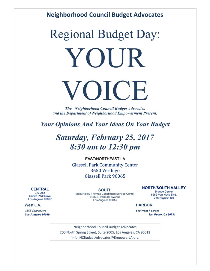 Regional Budget Day