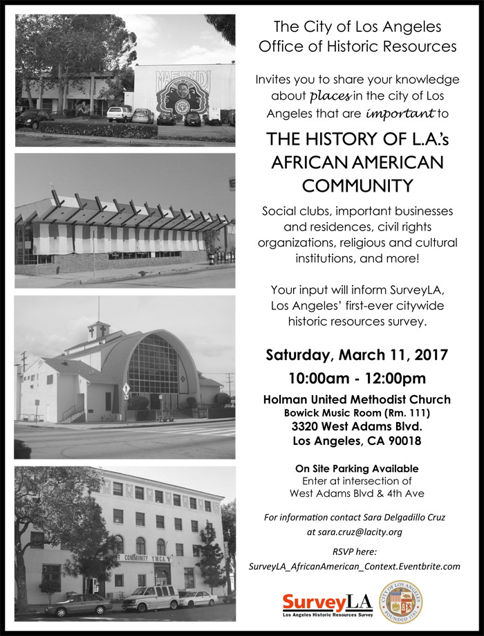 African American Historic Context Community Meeting