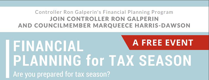 Controller Galperin's Financial Planning for Tax Season Workshop