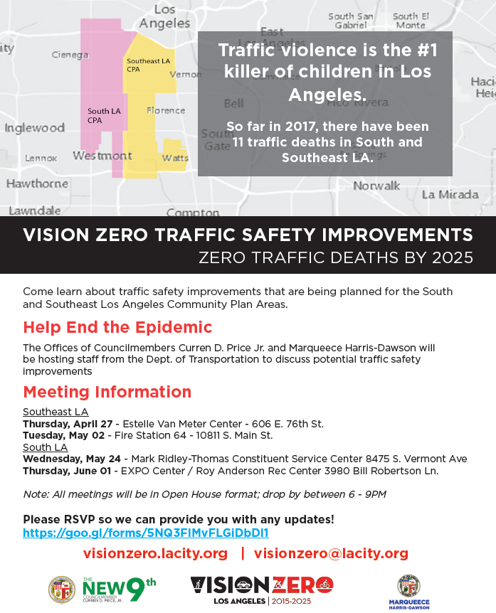 Vision Zero Traffic Safety Community Meeting
