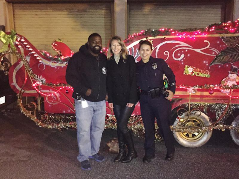 LAPD Santa's Sleigh Coming to Town