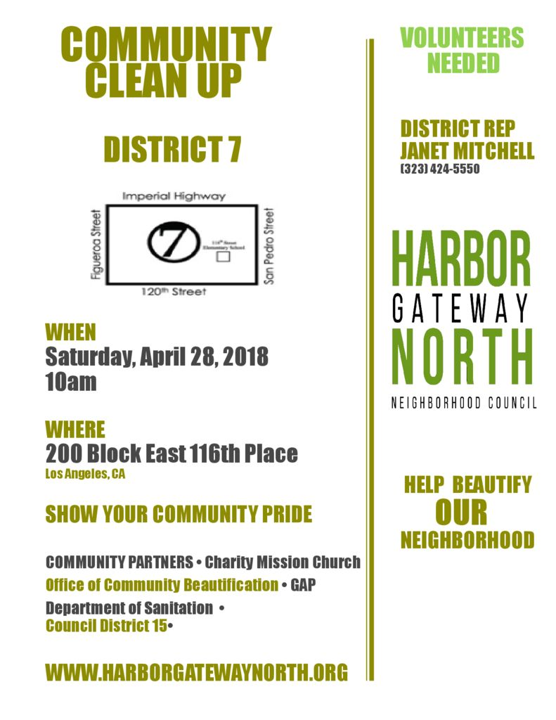 thumbnail of district7 Flyer_Community Clean Up