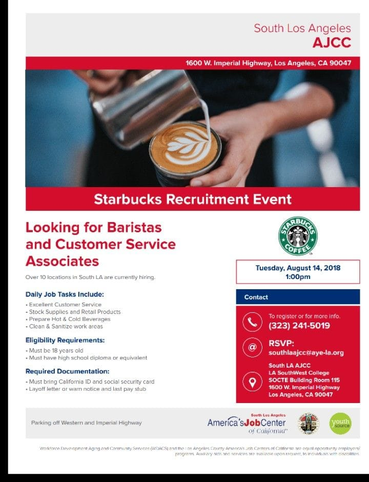 Starbucks hiring