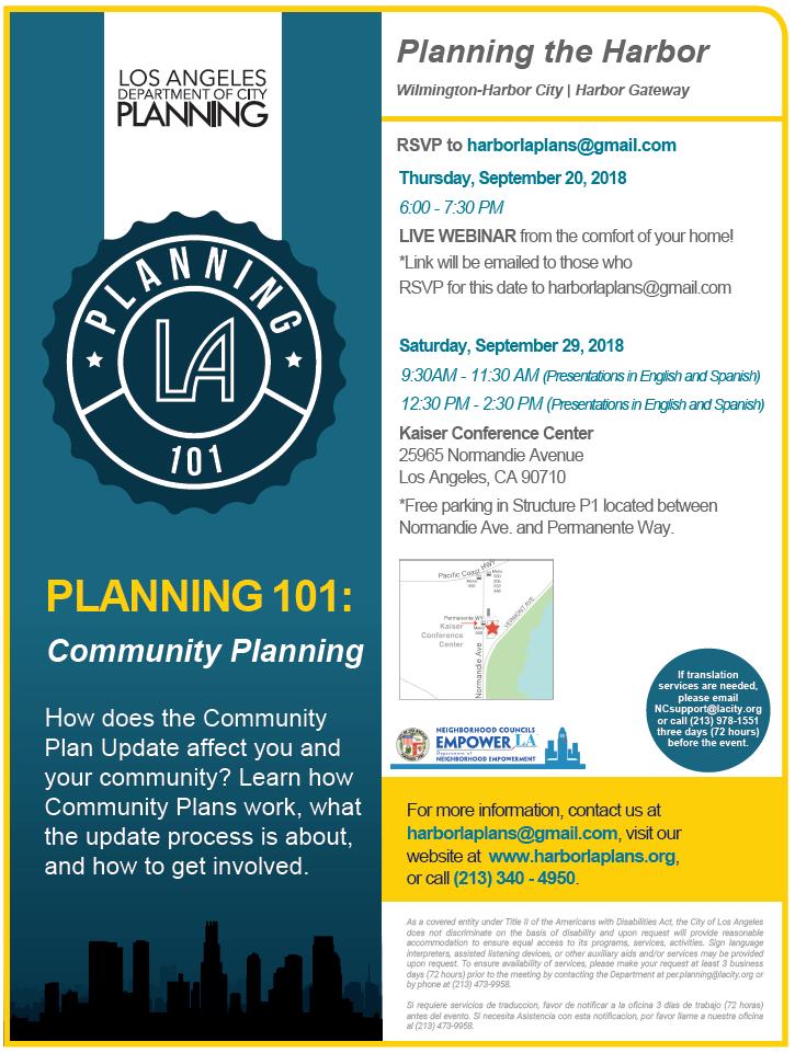 Planning 101 information