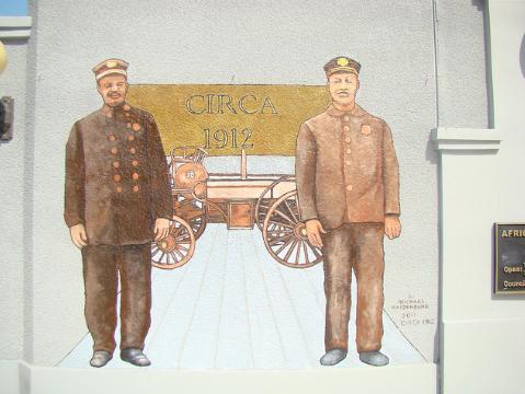Firemen mural of 1912
