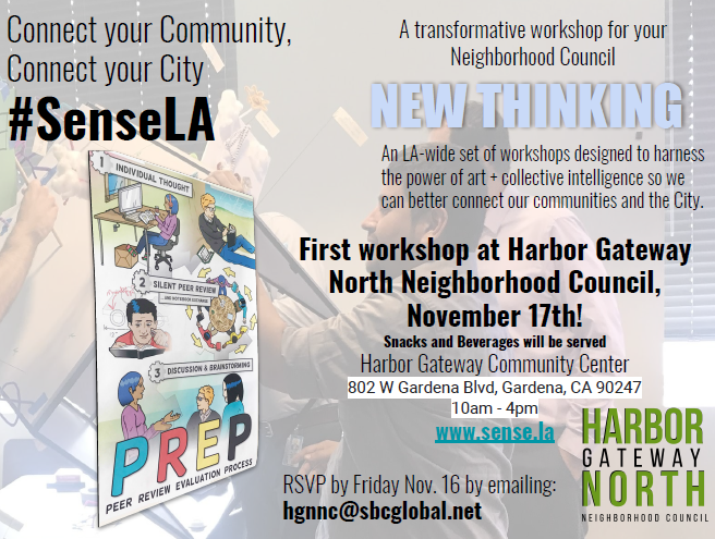 Sens LA Workshop to harness the power of art and collective intelligence to better connect our city.