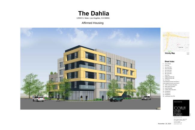 The Dahlia Housing Rendering on S. Main