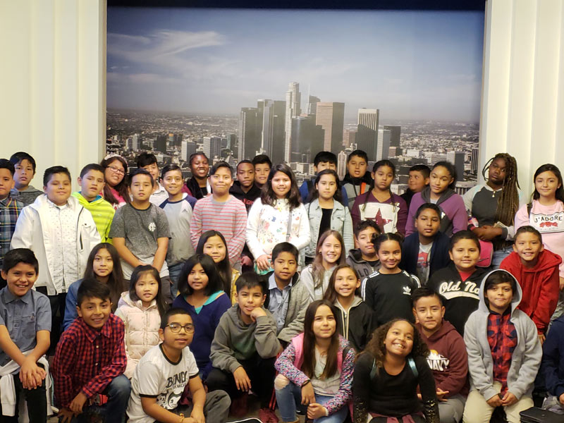 Gardena Elementary Students at City Hall