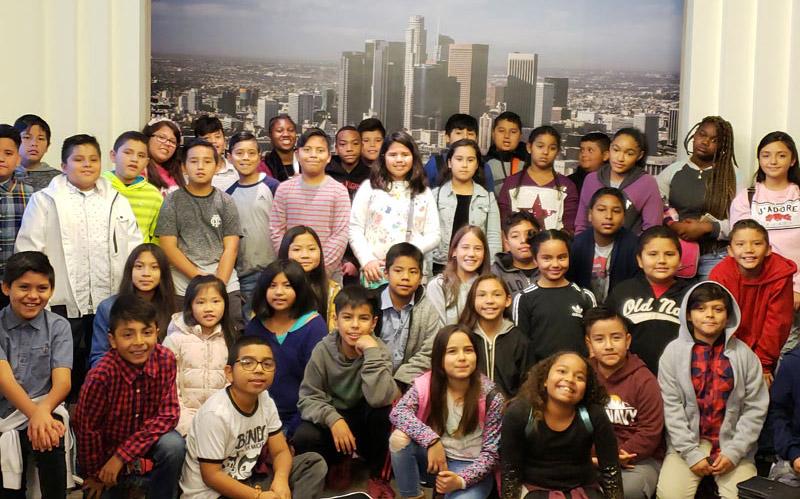 Gardena Elementary Students at City Hall