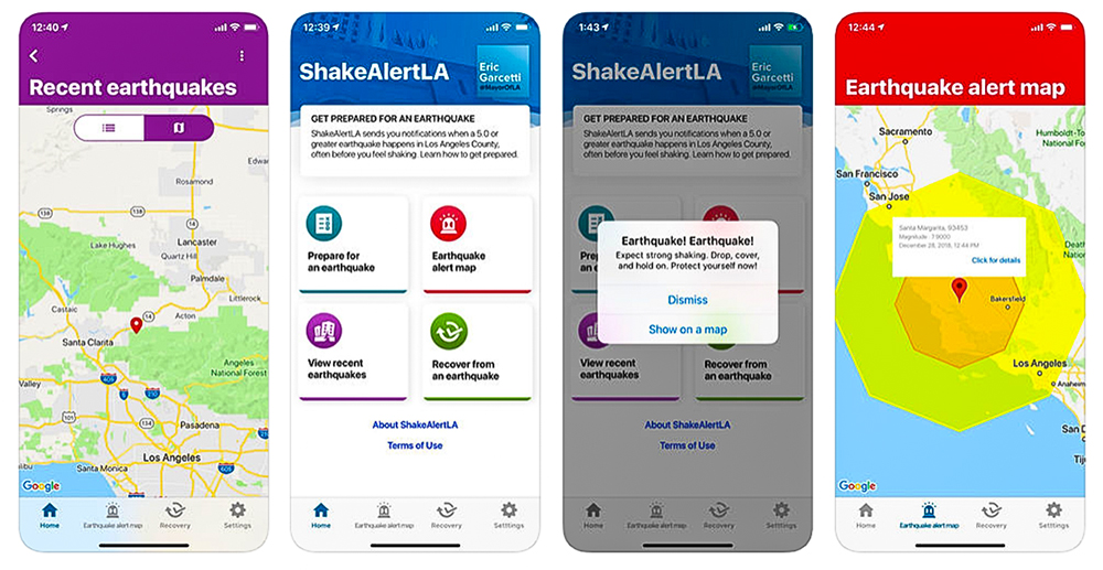 ShakeAlertLA app screenshots