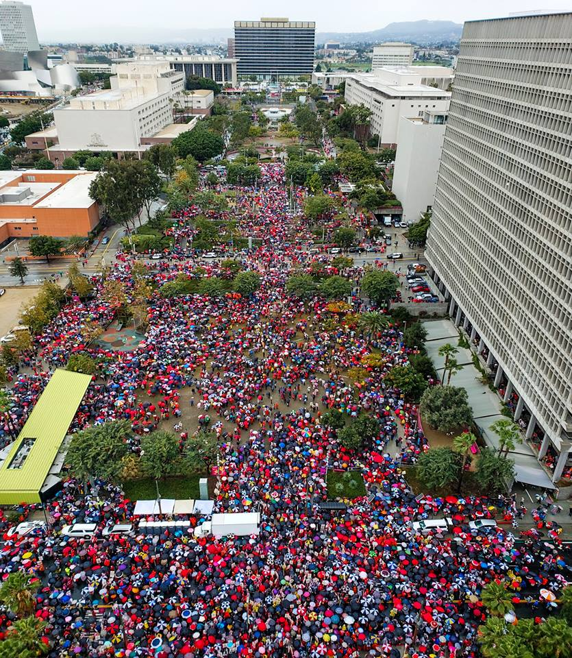 UTLA Strike image from Mayor's Facebook Page