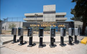 Men's Central Jail and bank of phone booths