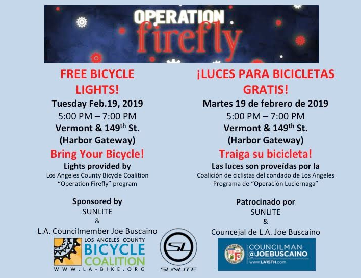 Operation Firefly: Free Bicycle Lights