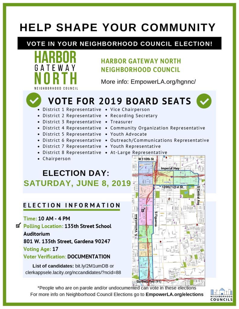thumbnail of Harbor Gateway North Neighborhood Council – Voter Outreach Flyer