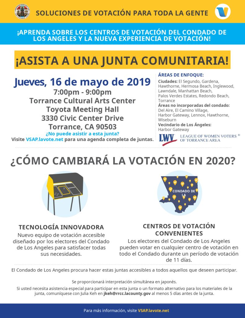 thumbnail of VCPP Flyer- LWV Torrance 5-16-19 Spanish