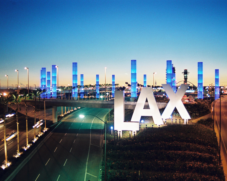 Light Pylons at LAX.