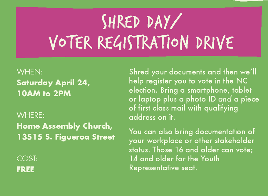 Shred Day Voter Registration