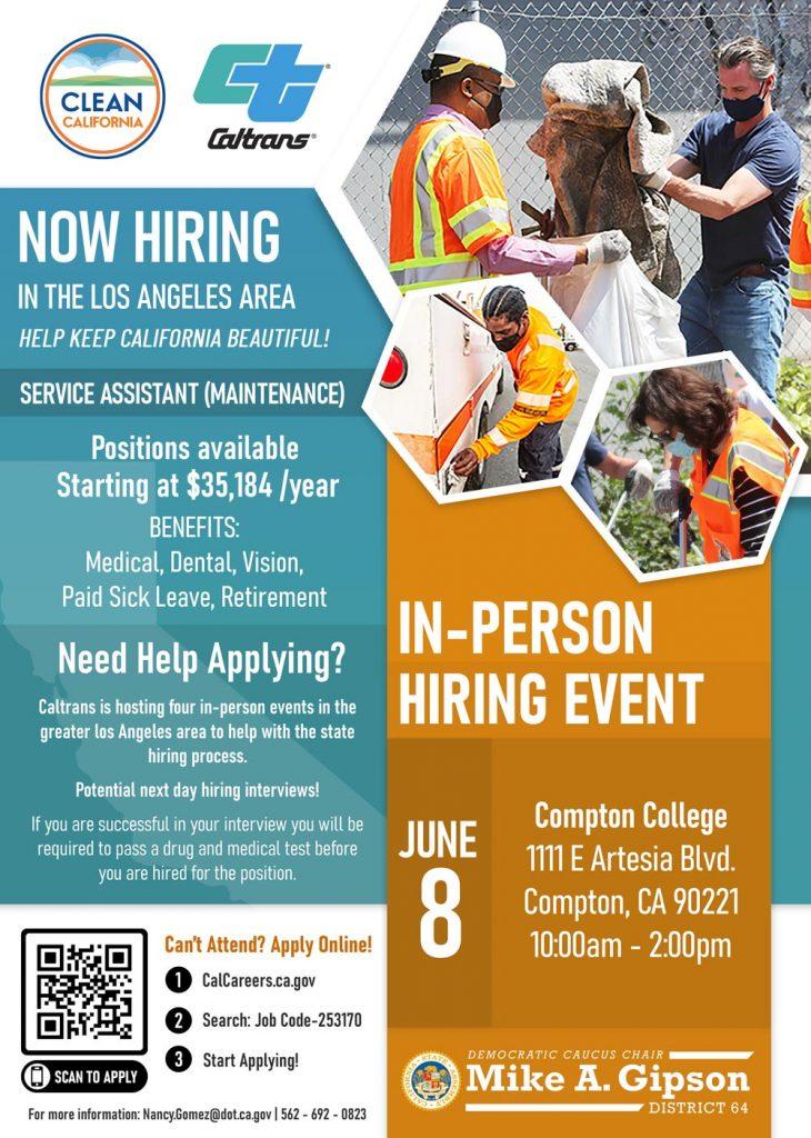 Caltrans now hiring