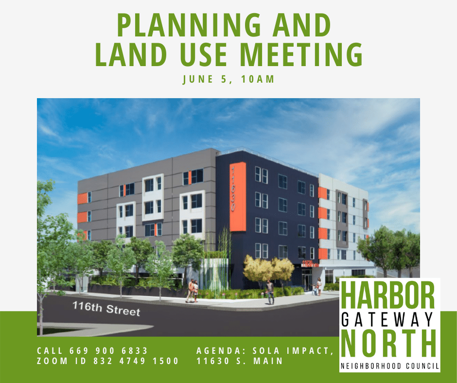 Planning and land use committee meeting graphic